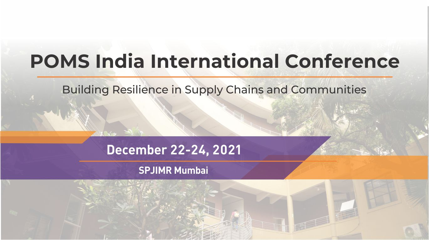 POMS India International conference
