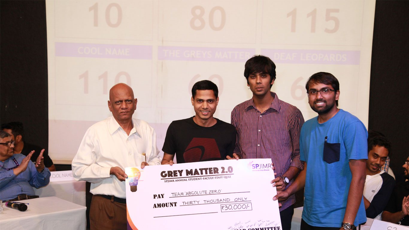 Grey Matter 2.0, The annual SPJIMR Quiz