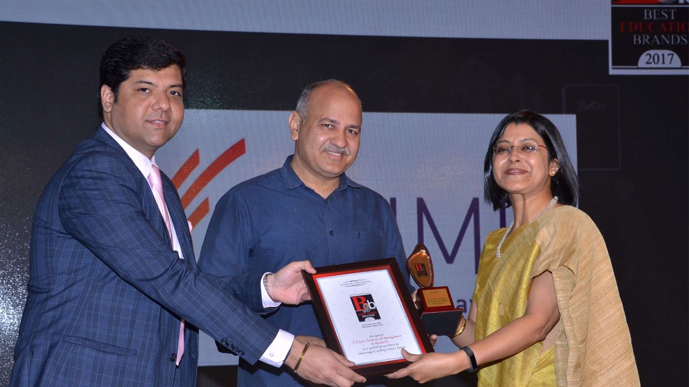 Renuka Kamath, SPJIMR, Award, Ranking, Best Education brand