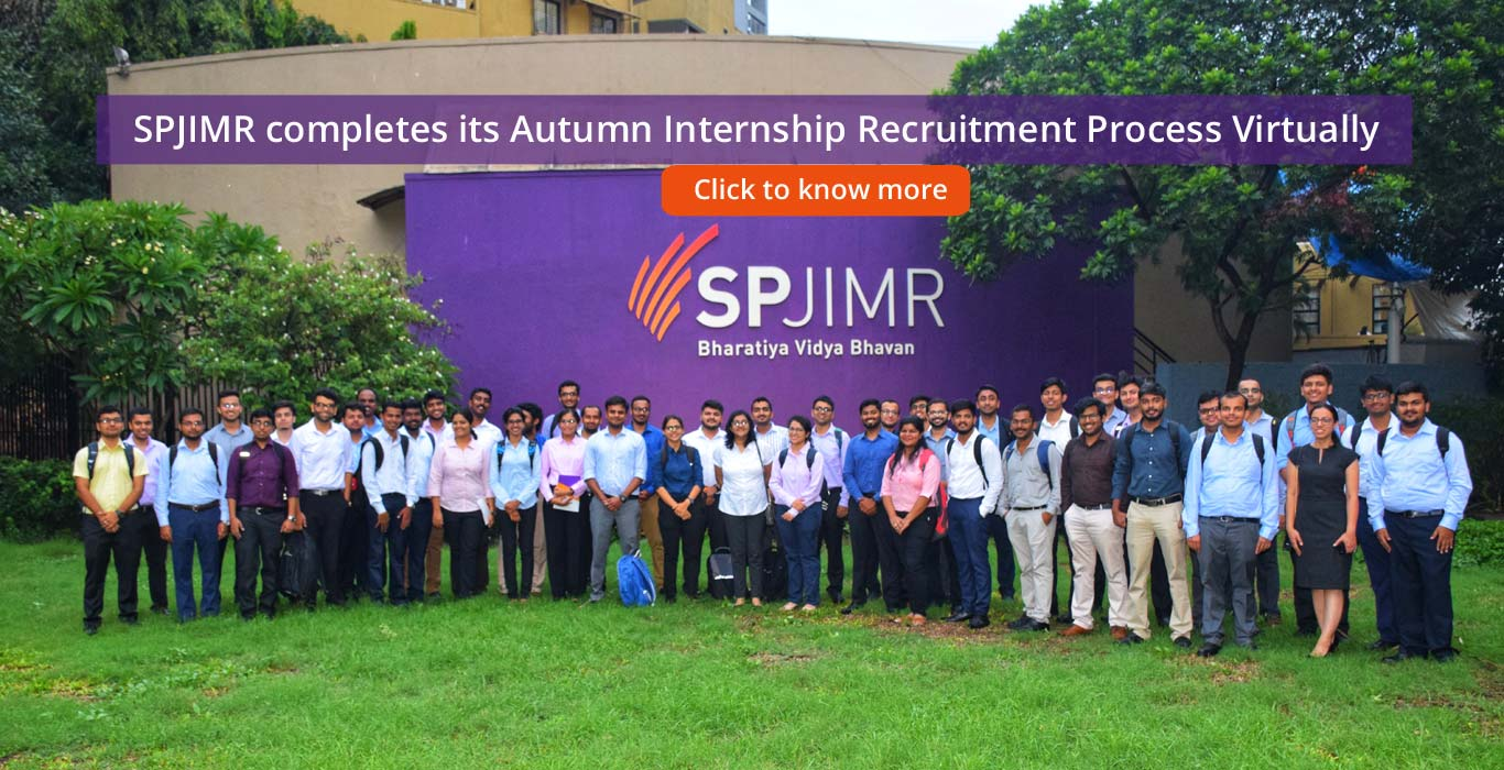 PGDM Autumn Internship, SPJIMR Autumn Internship, Internship, Autumn, SPJIMR, SP Jain
